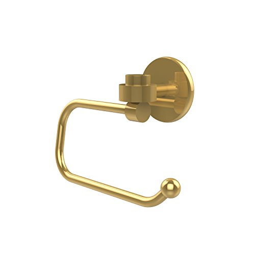 Allied Brass 7124E-PB Satellite Orbit One Collection Euro Style Toilet Tissue Holder Polished Brass