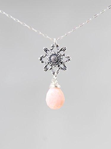 Pink Peruvian Opal Pendant - 1