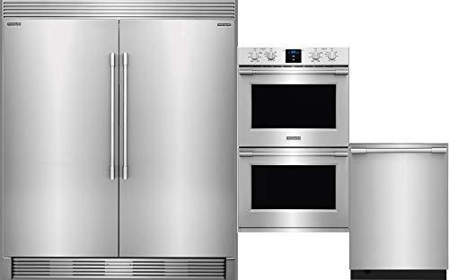 - Frigidaire Professional Package - FPRU19F8RF Refrigerator FPFU19F8RF Freezer TRIMKITEZ2 FPET3077RF Wall oven FPID2498SF Dishwasher in Stainless Steel
