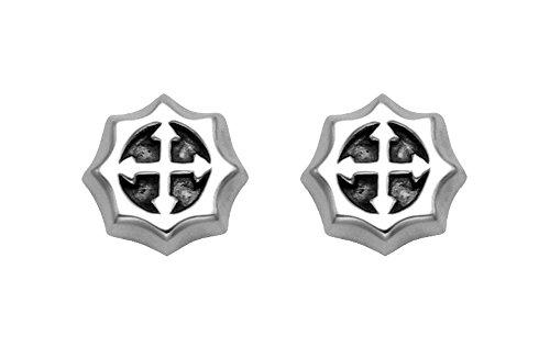 Sterling Silver Barby Cross Stud Earrings