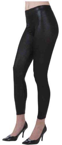 Forum Novelties 1980's Costume Shiny Black Stretch Leggings]()