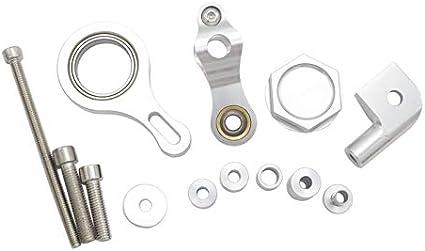 CHENWEI Haute qualit/é CNC en Aluminium Moto Volant Ajustable Stabiliser Damper Support de Montage for Yamaha YZF R6 2006-2017 Color : Gold Set