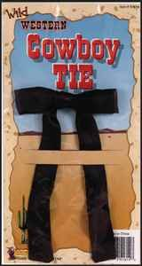 Forum Novelties 51614 Black Western String Tie, As Shown, One Size -