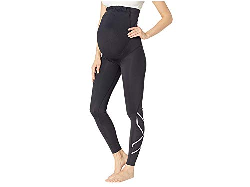 2XU Women's Pre-Natal Active Compression Tights Black/Silver X-Large 25 by 2XU (Image #1)