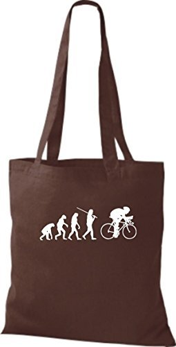 Shirtinstyle - Cotton Fabric Bag For Women Brown - Brown