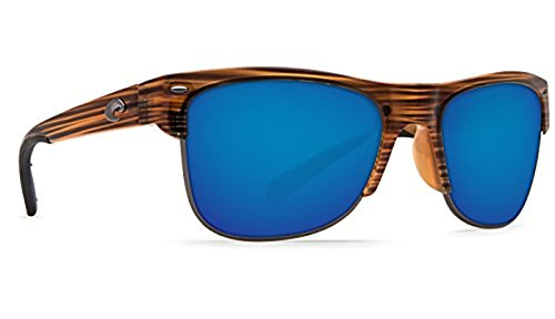 Costa Pawleys Sunglasses Teakwood / Blue Mirror 580G & Neoprene Classic - Costa Pawleys Sunglasses