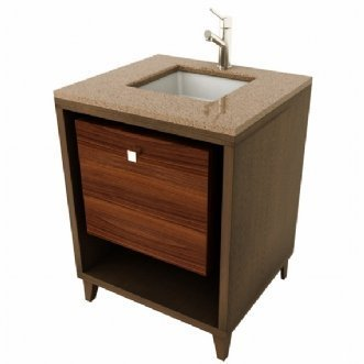Porcher Porcher Solutions (Porcher 86950-01.501 Solutions Shadowbox Stone Top Vanity, Black Granite)