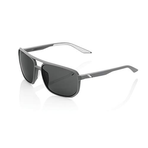 Ride100percent Konnor Aviator Square Soft Tact Dark Haze Smoke Lens voor volwassenen, uniseks, grijs, standaard