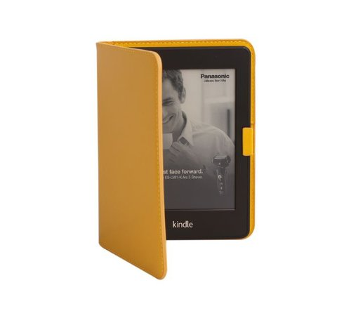 Paperthinks Notebooks Recycled Leather 7-Inch eReader Folio (Yellow Gold)