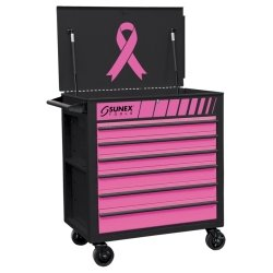Sunex Tools (SUN8057PK) Premium Full Drawer Service Cart - Pink/Black