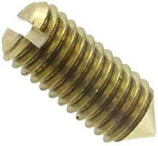 Gewindestift mit Spitze und Schlitz DIN 553 Messing blank M 3 x 6-100 St/ück