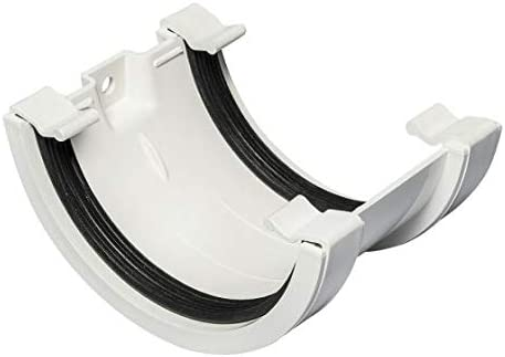 Half Round Fascia Bracket, Grey Black 112MM//68MM Half Round Gutter and Downpipe Fittings in White Brown and Grey Colour