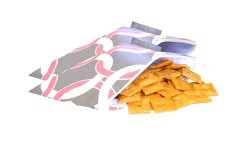 Itzy Ritzy Snack Happened - Bolsa reutilizable con cremallera para almuerzo (2 unidades, tamaño mini), diseño de círculos