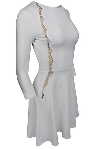 White Lerner Inset Women's Lace David Soft Dress YgdPxw