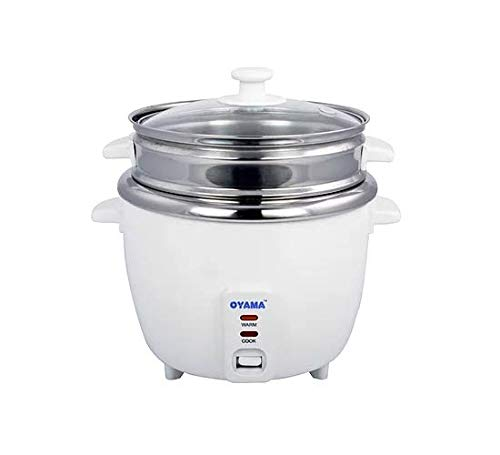 OYAMA Stainless 16-Cup (Cooked) (8-Cup UNCOOKED) Rice Cooker, Stainless Steel Inner Pot, Stainless Steamer Tray (CNS-A15U) by Oyama