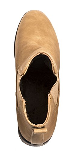 Elara - Botas plisadas Mujer - caqui
