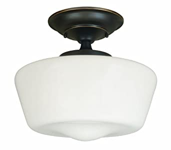 World Imports Lighting 9007-88 Luray 1-Light Semi-Flush