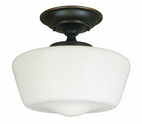 World Imports Lighting 9007-88 Luray 1-Light Semi-Flush Light Fixture, Oil Rubbed Bronze (Collection Vintage Bronze Tiffany Chandelier)