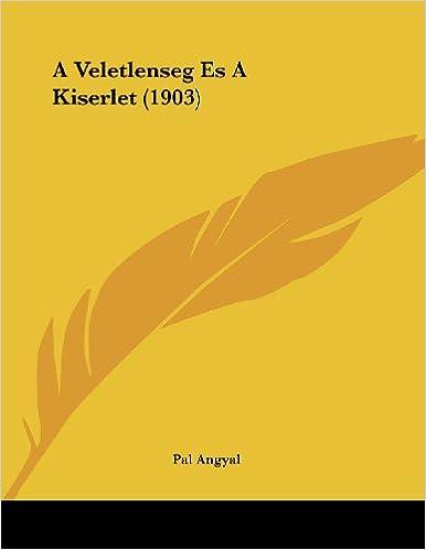 A Veletlenseg Es a Kiserlet (1903)