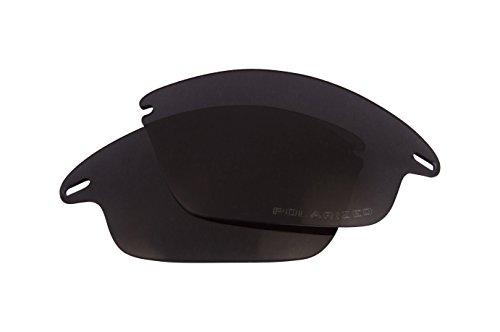 Best SEEK OPTICS Replacement Lenses Oakley FAST JACKET - Polarized Black by Seek Optics