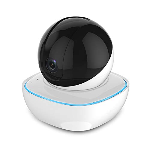 ZHANGZ0 Wireless WiFi Camera Smart Monitor 1080P/3MP Night Vision Infrared Hemisphere Security IP Camera,B