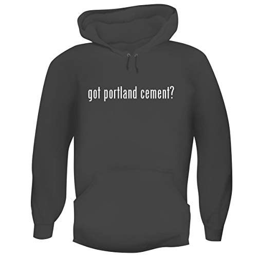 (One Legging it Around got Portland Cement? - Men's Funny Soft Adult Hoodie Pullover, Grey, Medium)