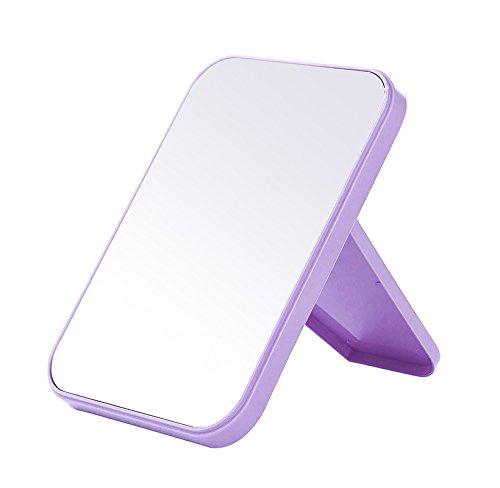 CWAIXX Desktop HD singolo dormitorio King size specchio pieghevole specchio specchio desktop bellezza principessa portatile specchio , Nordic viola