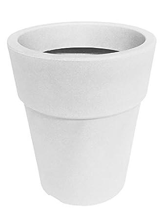 Nicoli R3940B Evolution Matt stampaggio rotazionale Ares vaso rotondo, bianco, 40 cm 40cm