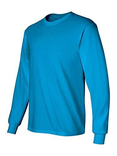 Gildan Men's Ultra Cotton Long-Sleeve T-Shirt - Sapphire - 3X-Large