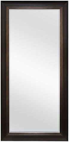 MCS Woodgrain and Bronze 66903 Walnut Beveled Leaner Mirror
