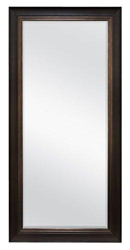 MCS Woodgrain and Bronze (66903) Walnut Beveled Leaner Mirror Woodgrain & Bronze