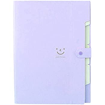TOOGOO(R) Kawaii FoldersStationery Carpeta File Folder 5layers Archivadores Rings A4 Document Bag Office Carpetas£¨Purple£