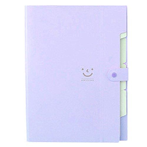 Amazon.com : TOOGOO(R) Kawaii FoldersStationery Carpeta File Folder 5layers Archivadores Rings A4 Document Bag Office Carpetas£¨Purple£ : Office Products