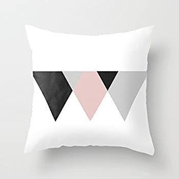 burlap pillow covers target decorative agents of pink black and gray triangles 18x18. Black Bedroom Furniture Sets. Home Design Ideas