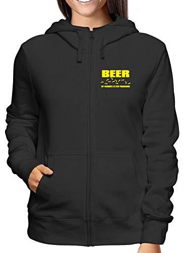 Fun2940 T My Sudadera Step Zip Negro Las Capucha Mujeras Programme Con Beer Favourite shirtshock Para zrgqz