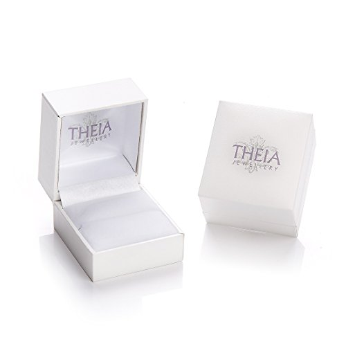 Theia Bague 9 carats (375/1000) Or blanc Unisexe - Taille 53 (16.9)