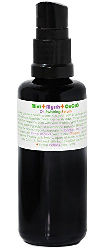 Living Libations - Organic / Wildcrafted Mint + Myrrh Oil Swishing Serum (1.69 oz / 50 ml) (Serum Rinse Radiance)
