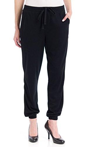 UPC 888172206389, Hue Women's Chill Jersey Sweatpants, Black, Large