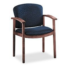 HON 2111 Invitation Series Wood Guest Chair, Mahogany/Blue Fabric (Case of 2) by Hon