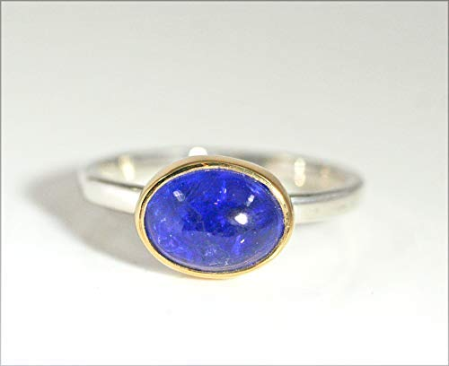Tanzanite Ring, 18kt Gold Tanzanite Ring, Minimalist Ring, Natural Tanzanite, Stacking Rings, December Birthstone