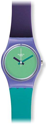Swatch Fun in Blue Green Dial Multi Plastic Silicone Quartz Ladies Watch ()