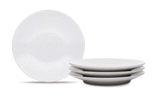 Noritake WOW Swirl Appetizer Plates, 6-1/2-Inch, Set of (Halloween Inspired Appetizers)