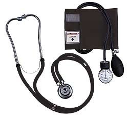 Lumiscope Black Blood Pressure and Stethoscope Kit, Health Care Stuffs