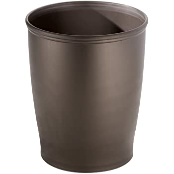 Ordinaire InterDesign Kent   Round Trash Can For Bathroom, Kitchen Or Office   8.35 X  10