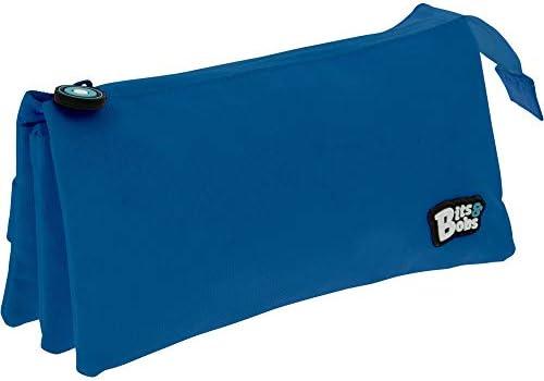 Grafoplás 37545430. Estuche Escolar 3 Bolsillos, Color Azul, 23,5x12x14cm, Bits & Bobs: Amazon.es: Oficina y papelería