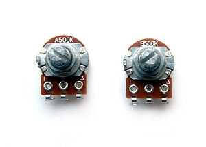 P Bass Guitar Pot Set 500K Mini Pots Potentiometers Volume And ...