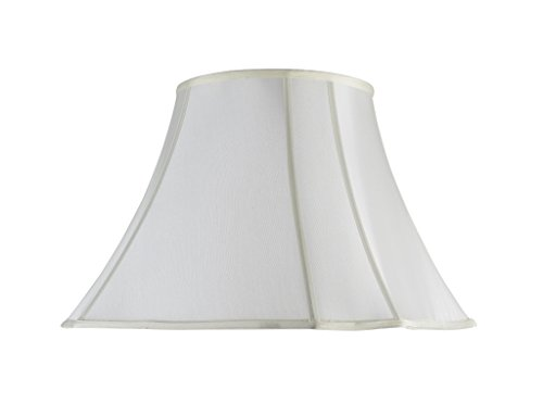 (Aspen Creative 34006 Transitional Scallop Bell Shape Spider Construction Lamp Shade in Off White, 18