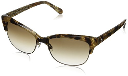 Kate Spade Women's Shira Cateye Sunglasses, Camel Tortoise, 55 - Women Prescription S Sunglasses