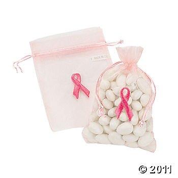 12 Breast Cancer Awareness Sacs