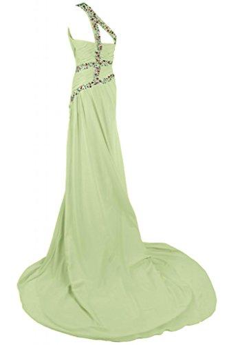 cavo asimmetrico abito sera Sunvary per da Light Glamorous Guaina Green piega xIwyxPqAUt